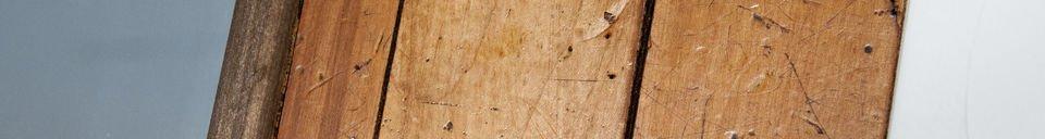 Benadrukte materialen Sheffield houten spiegel