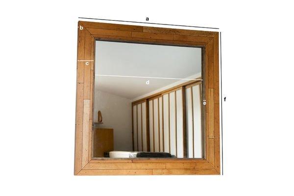 Productafmetingen Sheffield houten spiegel