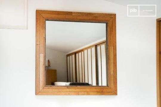Sheffield houten spiegel