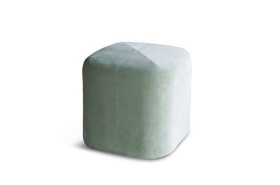 Skagen Fluwelen groene poef Productfoto
