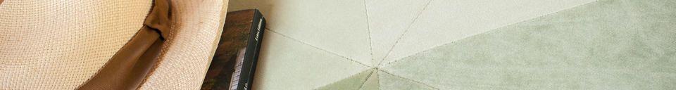 Benadrukte materialen Skagen grote poef in groen fluweel