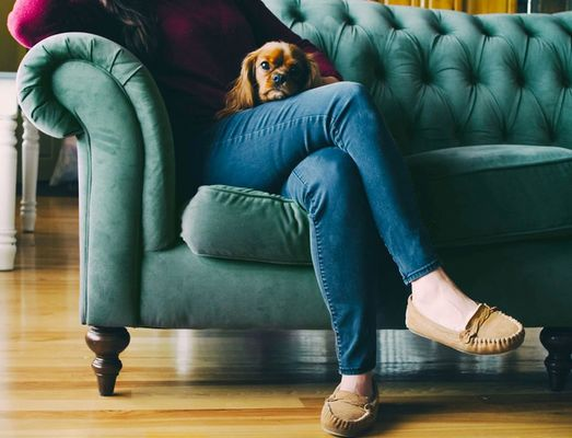 Smaragd groene sofa