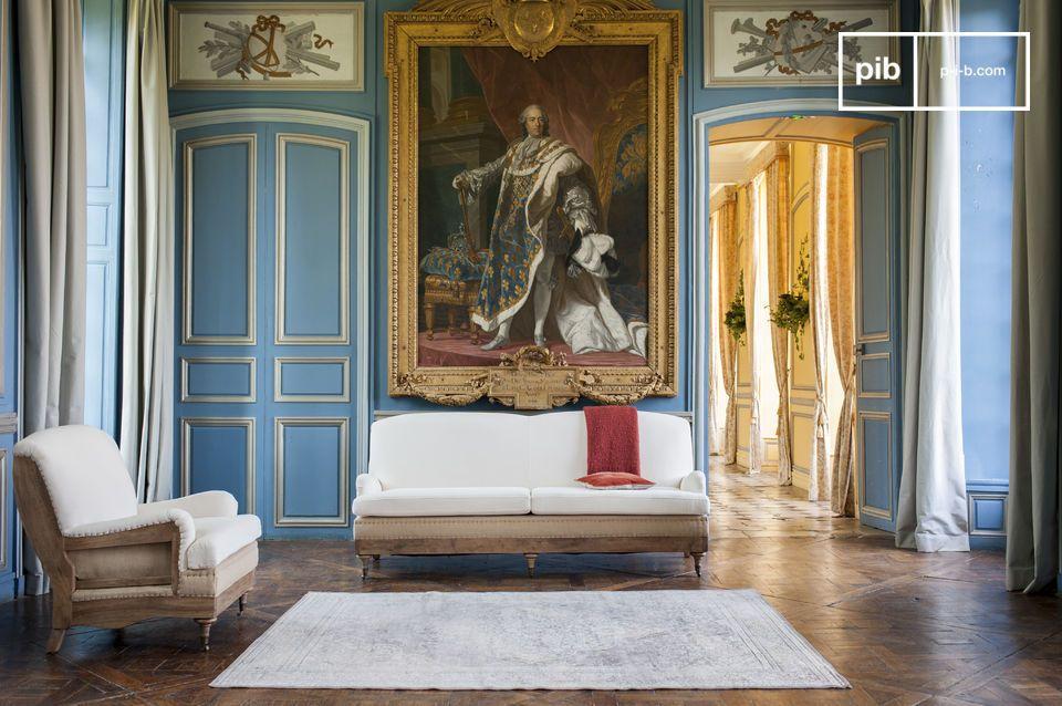 Met zijn kwaliteit materialen en ongestructureerde uiterlijk is deze 3 zits sofa ideaal in een