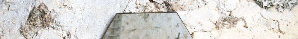 Benadrukte materialen Solliès-Pont zeshoekige spiegel
