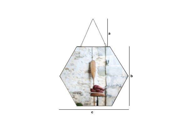 Productafmetingen Solliès-Pont zeshoekige spiegel