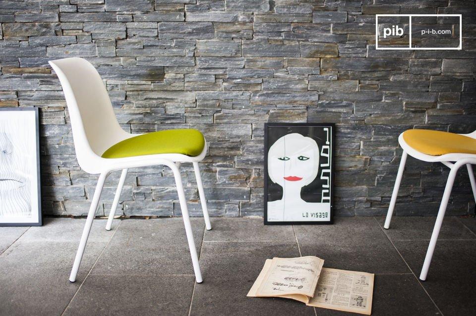 Een neo-retro stoel met een vleugje kleur