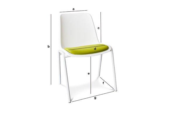 Productafmetingen Sören Vert stoel