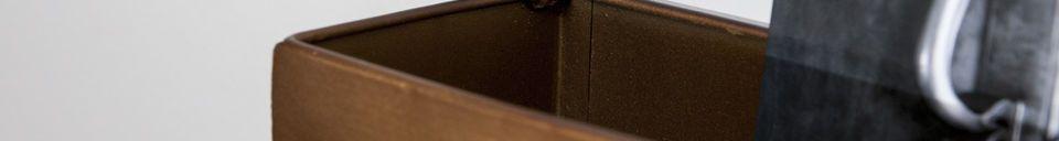 Benadrukte materialen Spiegel- en wandkapstok Mimizan