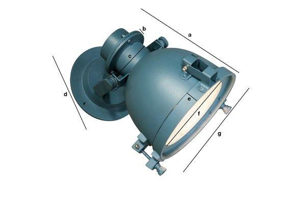 Productafmetingen Spitzmülle wandlamp