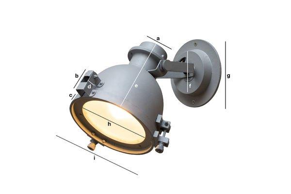 Productafmetingen Spitzmüller wandlamp