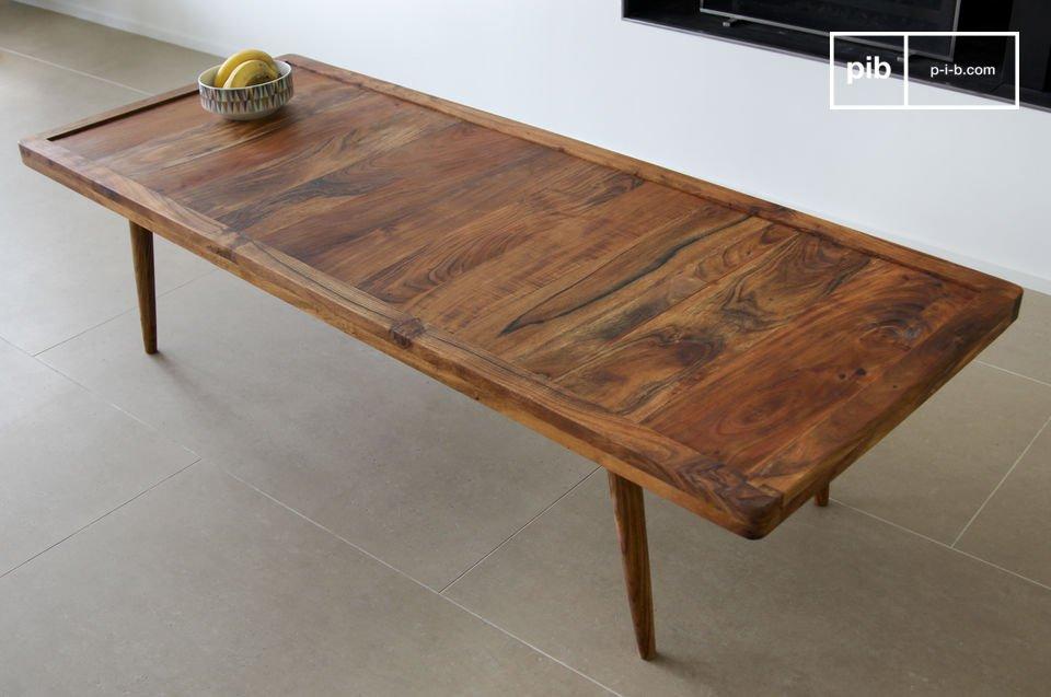 Deze elegante salontafel haalt zijn inspiratie uit vintage Scandinavisch design