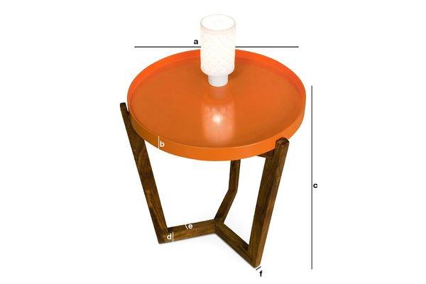 Productafmetingen Stockholm tafel met verwijderbaar tafelblad