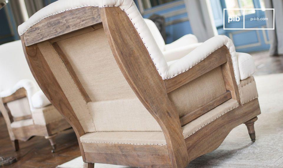 Met zijn linnen voering en dichte schuimrubber heeft deze stoel met retro stijl alles! De structuur