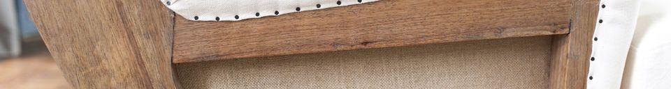 Benadrukte materialen Stoffen armstoel Gustave