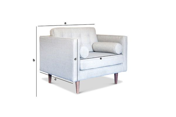 Productafmetingen Stoffen fauteuil Silkeborg