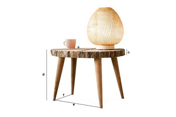 Productafmetingen Superlip salontafel