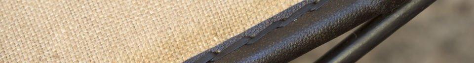 Benadrukte materialen Tabasco opklapbare stoel