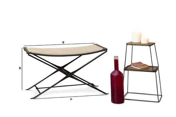 Productafmetingen Tabasco opklapbare stoel
