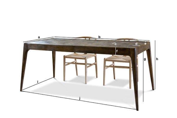 Productafmetingen Tabüto houten tafel
