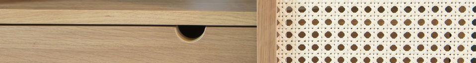 Benadrukte materialen Tammea eikenhouten dressoir