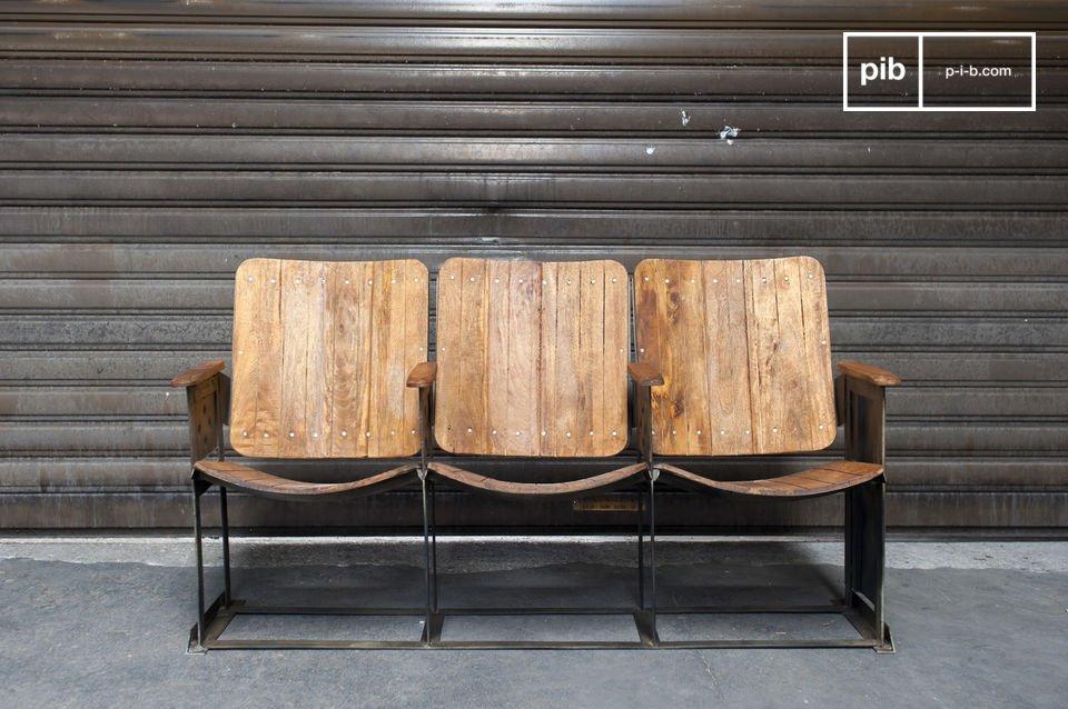 Kleine theater rij, 100% metaal en hout