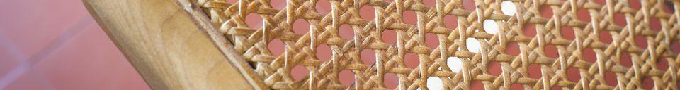 Benadrukte materialen Thisted rieten fauteuil