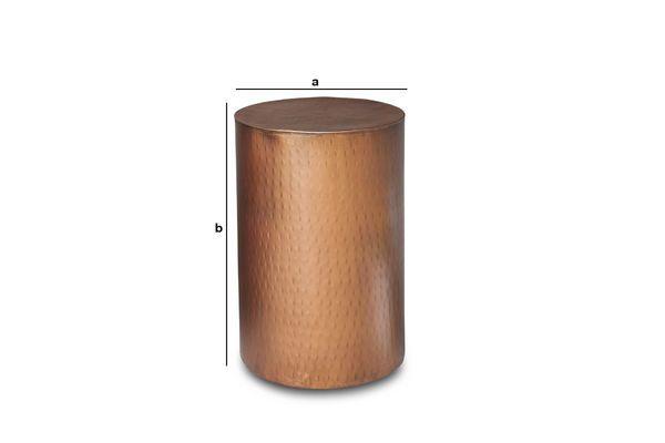 Productafmetingen Thomson koperen bijzettafel