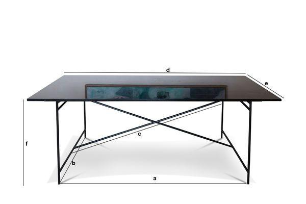 Productafmetingen Thorning zwarte tafel
