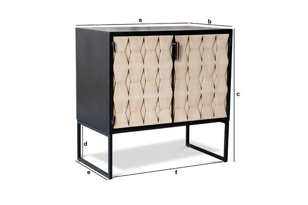 Productafmetingen Timantti dressoir