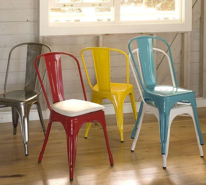 Tolix stoelen verschillende kleuren