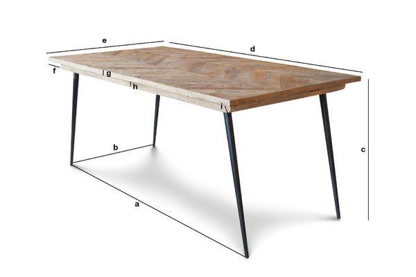 Productafmetingen Tongeren tafel