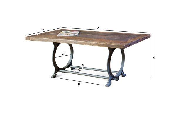 Productafmetingen Tonnel salontafel