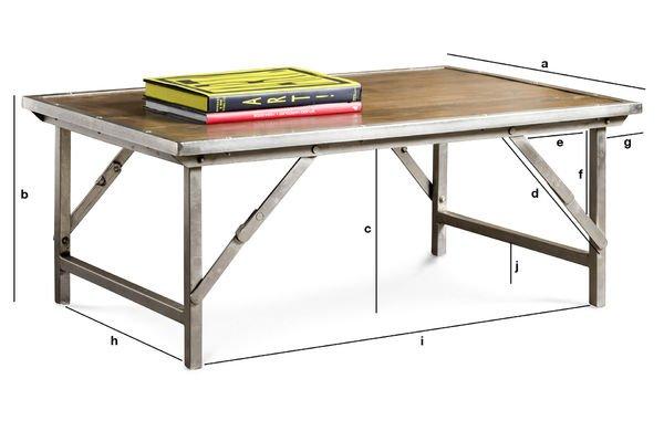 Productafmetingen Trémy salontafel