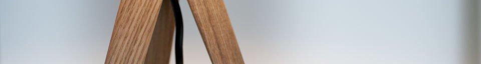 Benadrukte materialen Tripod wood tafellamp
