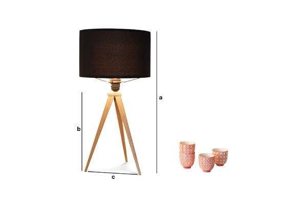 Productafmetingen Tripod wood tafellamp