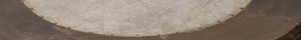 Benadrukte materialen Tubisteel metalen salontafel
