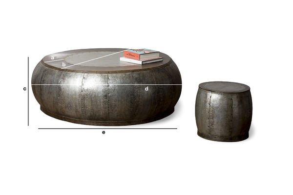 Productafmetingen Tubisteel metalen salontafel