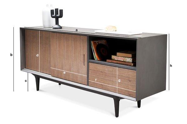 Productafmetingen Tumma Fjord dressoir