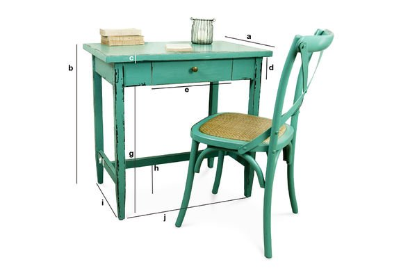 Productafmetingen Turquoise Lilac tafel