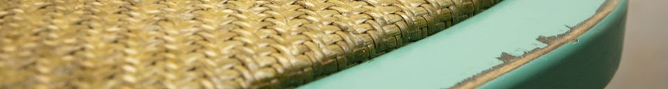 Benadrukte materialen Turquoise Pampelune stoel
