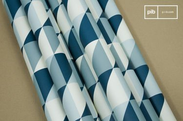 Turquoise Skive behang