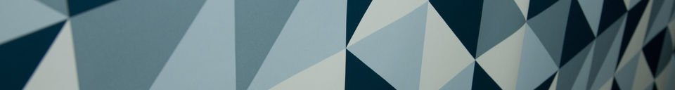 Benadrukte materialen Turquoise Skive behang