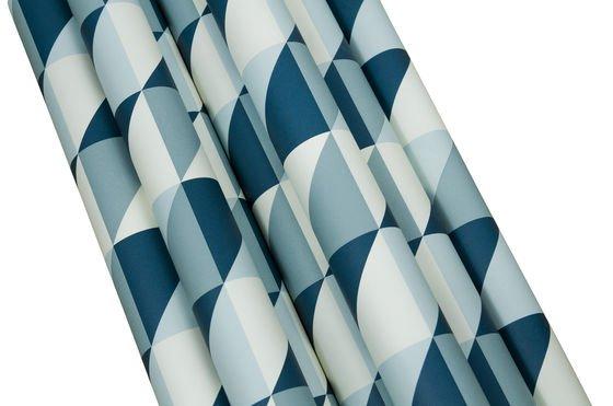 Turquoise Skive behang Productfoto