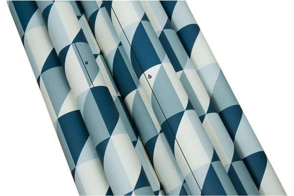 Productafmetingen Turquoise Skive behang