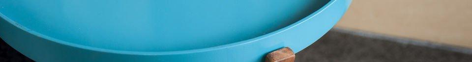 Benadrukte materialen Turquoise Stockholm tafel