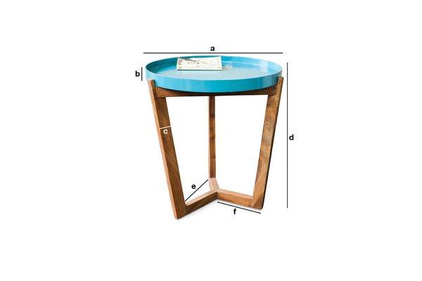 Productafmetingen Turquoise Stockholm tafel