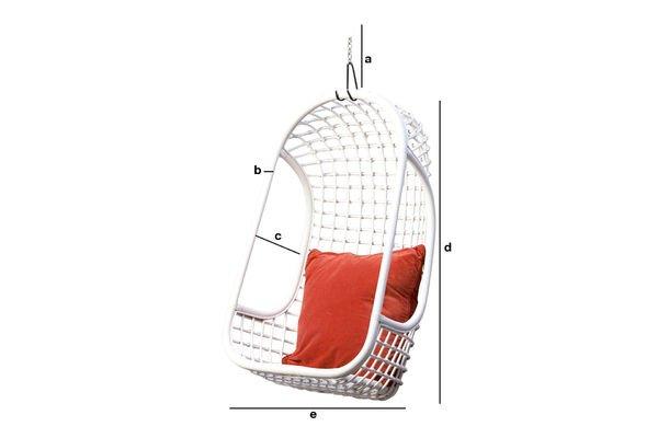 Productafmetingen Valkönen hangstoel