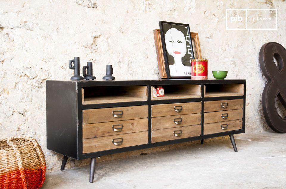 Een dressoir met een charmante retro stijl