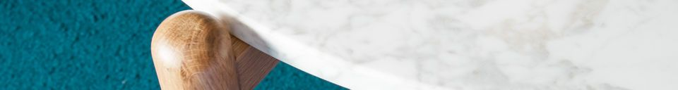 Benadrukte materialen Västra marmeren salontafel