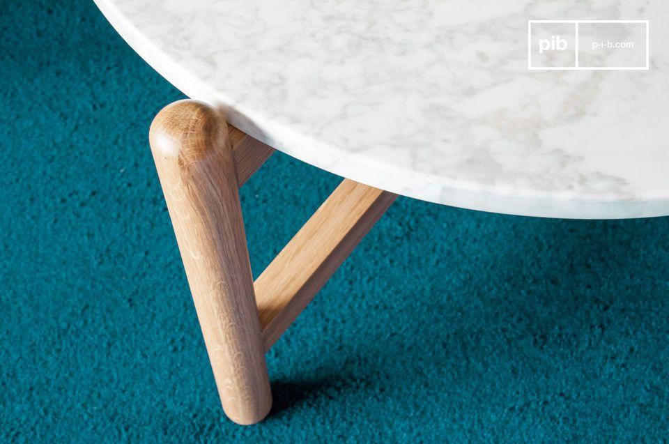 Een combinatie tussen de zachtheid van ronde vormen met lichtgekleurde materialen